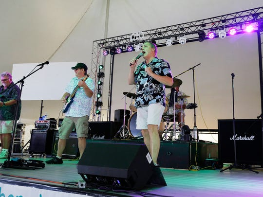 A band performs at Lakeshore Weekend at south pier Saturday July 29, 2017 in Sheboygan, Wis.