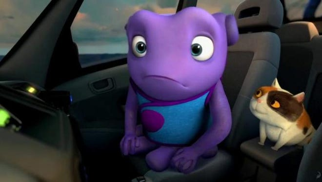 """Oh (voiced by Jim Parsons) is on the run from his own people in """"Home."""""""