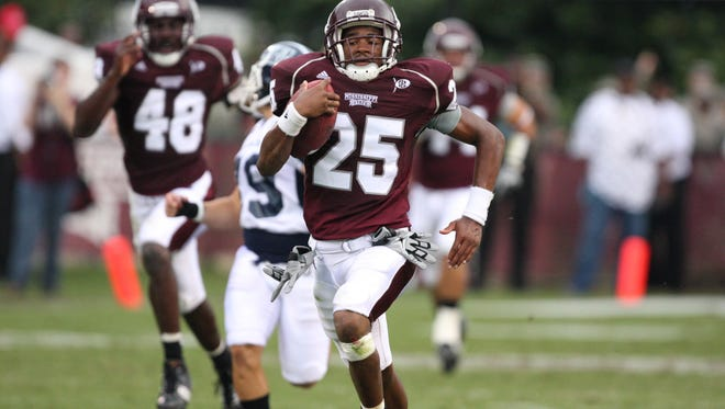 Bayside High graduate Corey Broomfield, who played at Missisippi State from 2009-2012, has been hired to return to Bayside as head football coach. Photo courtesy of Mississippi State