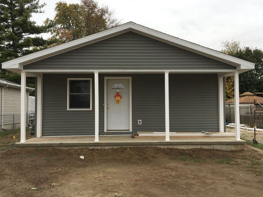 Habitat for Humanity house is being built on Buchanan