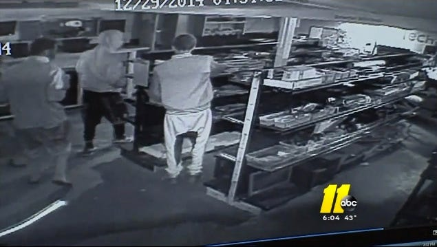 ABC11 aired surveillance footage of the burglary in Fayetteville, N.C. Parents of two of the boys recognized their own children and turned them in.
