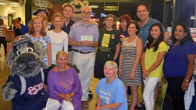 During the 2016 Super Summer Reader celebration at TD Bank Ballpark in Bridgewater, the 10 authors and MyCentralJersey.com donated $500 to the Somerset Patriots Children's Foundation, which in turn is being donated to the Literacy Volunteers of Somerset County.