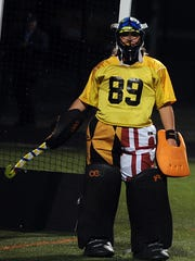 Pocomoke goalkeeper Dom Farrace prepares to face a