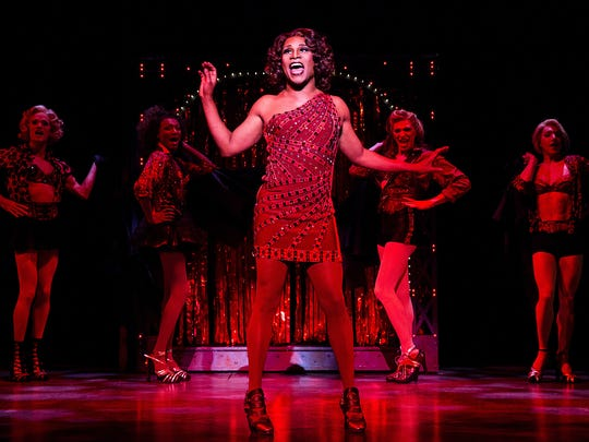 """Billy Porter (center) during a performance with the national touring company of the Cyndi Lauper-scored musical """"Kinky Boots."""""""