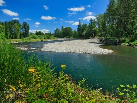 North Santiam River at WRC project property-credit Steve Terrill