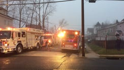 Scene of a fire on Atkins Avenue in Neptune Township.
