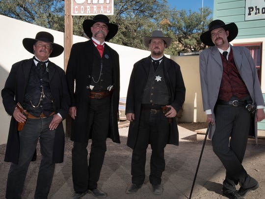 Reenactments of the Gunfight at the O.K. Corral are