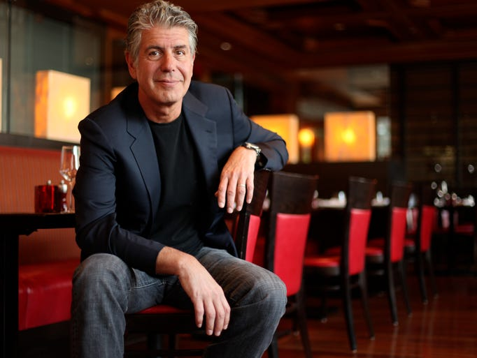 Anthony Bourdain, celebrity chef, photographed in the