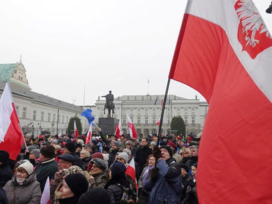 Protesters attend an anti-government demonstration,
