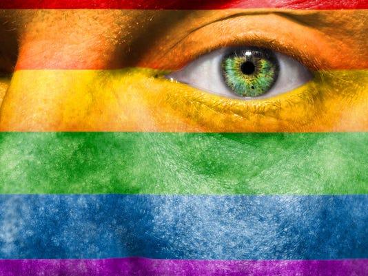 LGBT face stock