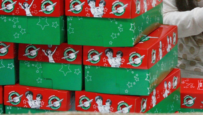 Collection sites will be open Nov. 14-21 to collect shoebox gifts for Operation Christmas Child.