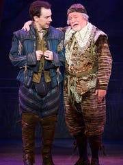 "Rob McClure and Jeff Brooks in ""Something Rotten."" Photo by Jeremy Daniel"