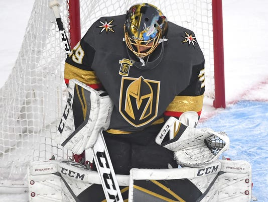 USP NHL: STANLEY CUP PLAYOFFS-SAN JOSE SHARKS AT V S HKN VGK SJS USA NV