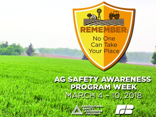 Agriculture safety is one of the most important investments a farmer can make. Ag Safety Awareness Program week is March 4 -  10.