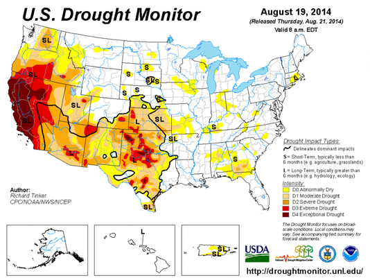 US drought monitor large image