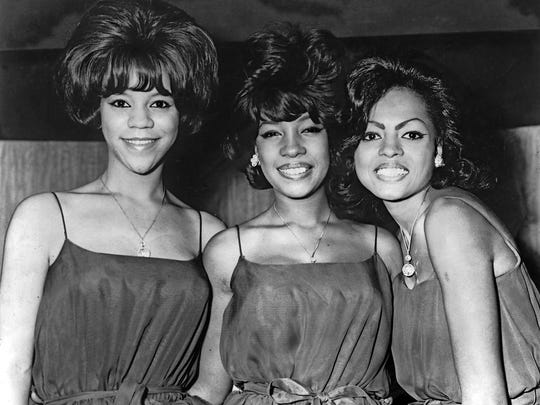 """Detroit Free Press file photo from November 25, 1964 of the Supremes; Florence Ballard, Mary Wilson and Diana Ross. Known at Motown Records as the """"No-hit Supremes"""" because in 1962 and 1963 they released 9 single records and everyone was a flop until 1964 when """"Where Did Our Love Go?"""" hit the top of the charts."""
