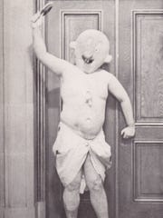 The Suicide Club entered member David Warren, pictured here, into a baby beauty contest in March 1977.