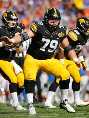 Sean Welsh will play in his 52nd career game at Wednesday's Pinstripe Bowl in New York City. He's played at left guard, right guard and even right tackle (six starts) in his durable Hawkeye career.