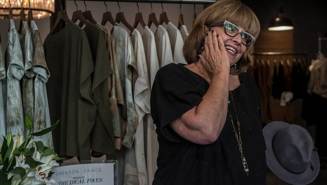 Nashville Fashion Alliance chief Van Tucker attends a trunk show at Emerson Grace Boutique on 12South.