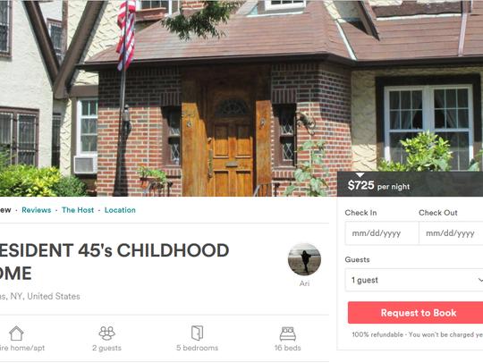 Trump house Airbnb