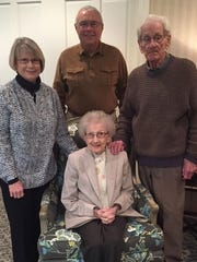 Celebrating 94 The month of February is full of celebrations for Connie and Howard Norlin. They celebrated Connie's 94th birthday at a luncheon at Oak Meadow Country Club, co-hosted by Howard and their daughter and her husband Barb and Barry Hart. Later this month, their son and daughter-in-law, Wayne and Jana Norlin, from Michigan, will join them for another family gathering to celebrate Howard's birthday and Connie and Howard's 73rd anniversary. Connie and Howard have been together since the eighth grade and were married on his 21st birthday at Bethesda Naval Hospital in 1944. They are blessed with two children, four grandchildren and six great-grandchildren.