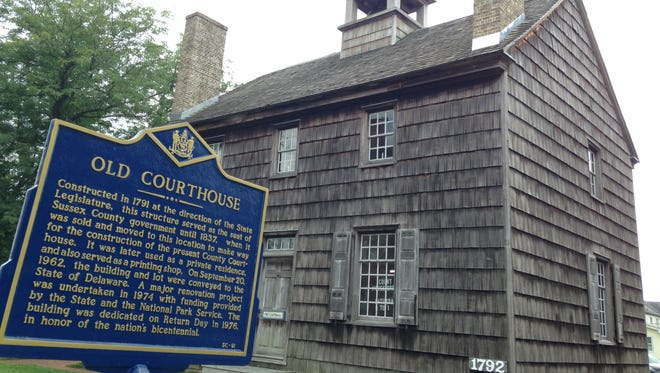 The old Georgetown courthouse was constructed in 1791.