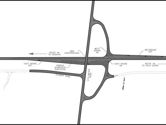This drawing depicts the proposed new interchange at