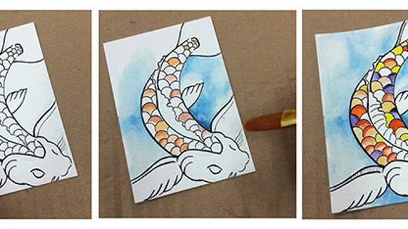 Koi fish illustration by Samantha Delinger.