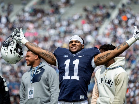 Former Harrisburg High standout Micah Parsons could start at linebacker as a true freshman at Penn State. AP FILE PHOTO