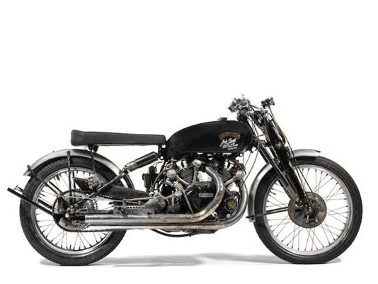 New world sales record set at motorcycle auction