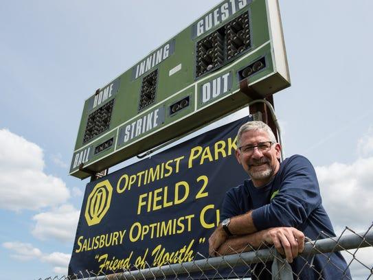 Mike DeFiore president of the Optimist Club of Salisbury