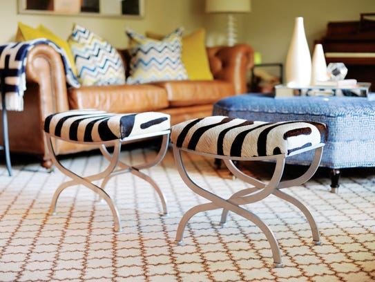Make a room fun with fresh, current fabrics and patterned