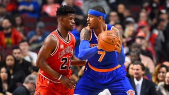 Carmelo Anthony and Jimmy Butler
