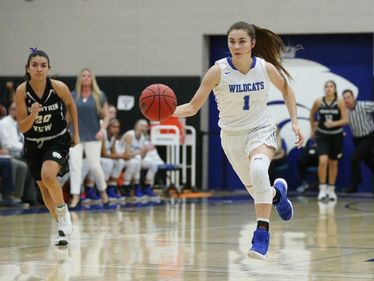 Mesquite guard Shaylee Gonzales (1) continues to shine.