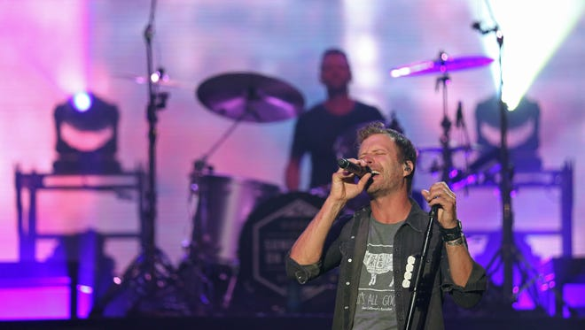 Dierks Bentley plays a concert at the Iowa State Fair grand stand on Monday, Aug. 15, 2016, in Des Moines.