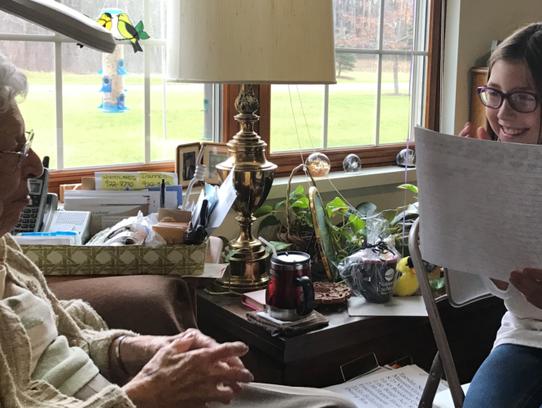 Two Rivers fifth-grade student Kasia Kamyszek shares