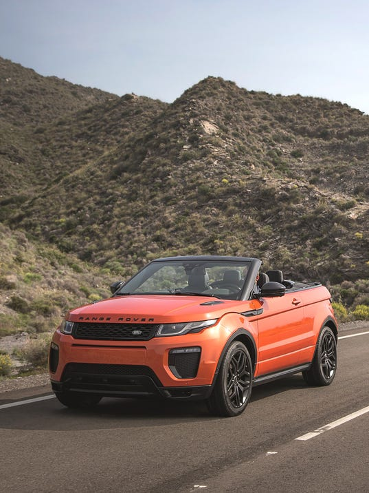 Intriguing 2017 Range Rover Evoque SUV convertible bows