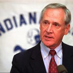 Lindy Infante answers a question afer he was named coach of the Indianapolis Colts on Thursday, Feb. 15, 1996, in Indianapolis. Infante, offensive coordinator of the Colts, was named to replace Ted Marchibroda who was named head coach of the Baltimore team Thursday. (AP Photo/Michael Conroy)