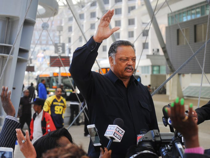 Civil rights leader the Rev. Jesse Jackson Sr. speaks