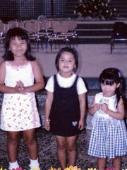 From left, Raycia Charfauros, 5, Justine San Nicolas, 4, and Mariah Borja, 3, are pictured in an undated photo. Justine died by suicide at age 16.