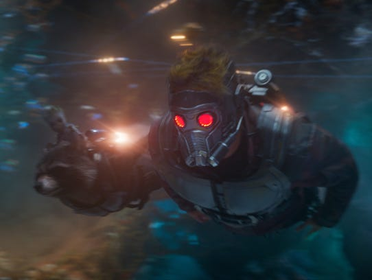 """Chris Pratt in a scene from """"Guardians Of The Galaxy"""