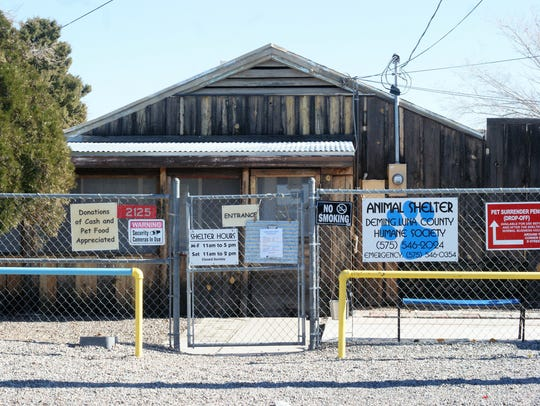 Deming Animal Shelter is located at 2135 Onate Ave.,