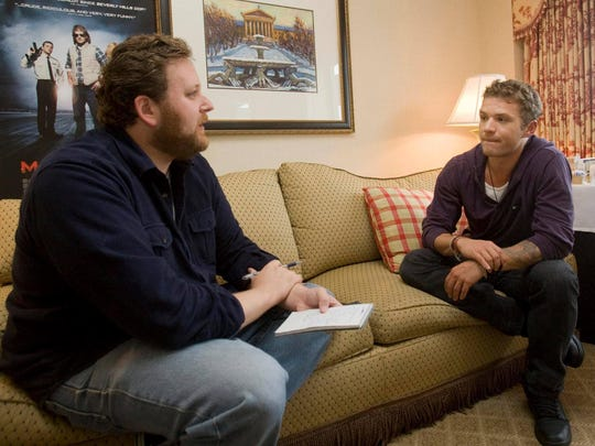 Ryan Phillippe is interviewed by The News Journal in Philadelphia in 2010.