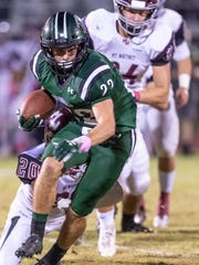 El Diamante's Austin Beno runs away from Mt. Whitney's