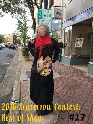 Riverfront Renaissance Center for the Arts' entry in Millville's scarecrow contest was selected as the best of show.