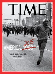 Time magazine cover of May 11, 2015 features an image