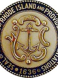 The state seal of Rhode Island.