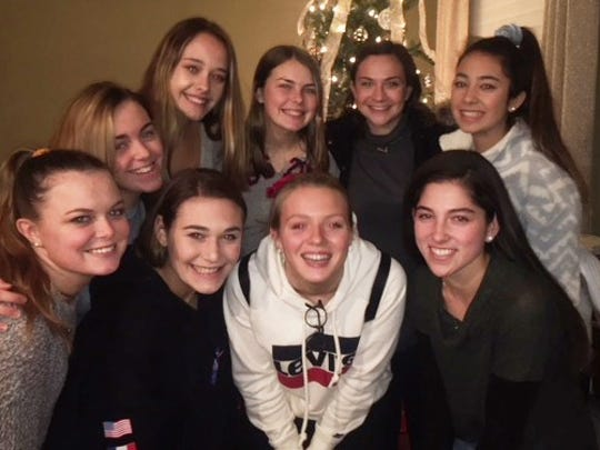 Pictured (front, from left): Erin McGahan, Julianne Vitiello, Ellie Schraft and Caroline Lubow; (back, from left): Caleigh McGuire, Molly Flanagan, Brenna McGahan, Allison Lipkin and Taylor Scarpati; (not pictured): Gabrielle Christie and Meghan Decker.