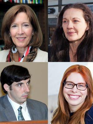 The Ridgewood Council candidates: Clockwise from top left, Janice Willett, Mayor Susan Knudsen, Deputy Mayor Michael Sedon and Alexandra Harwin.