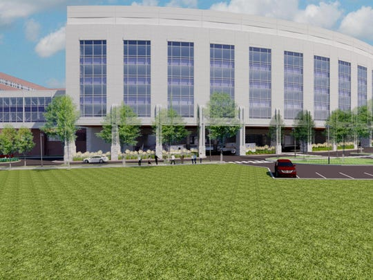 Artist's rendering of the Robert E. and Holly D. Miller Building, which will feature 128 single-bed rooms. Completion is expected in 2019.